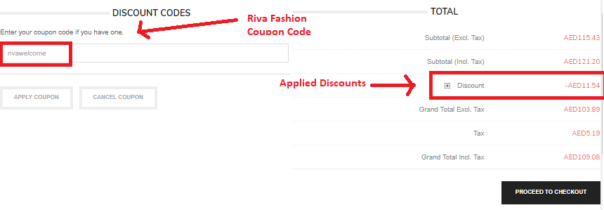 How to use Riva Fashion coupon code